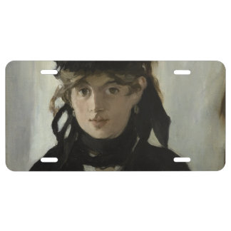 Berthe Morisot with a Bouquet of Violets by Manet License Plate
