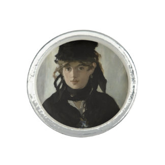 Berthe Morisot with a Bouquet of Violets by Manet Photo Ring