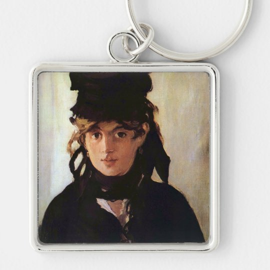 Berthe Morisot with a Bouquet of Violets, Manet Keychain
