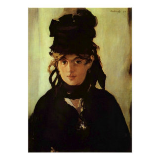 Berthe Morisot with a Bouquet of Violets Poster