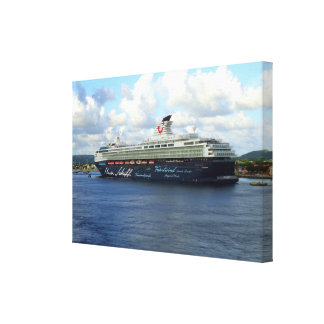 Berthed in Bonaire Canvas Print