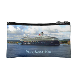 Berthed in Bonaire Personalized Travel Cosmetic Bag