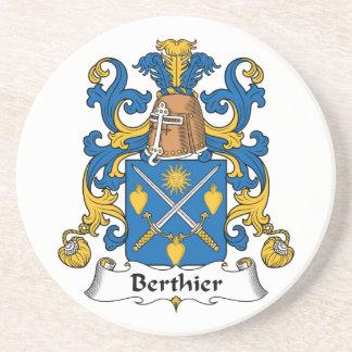 Berthier Family Crest Beverage Coaster