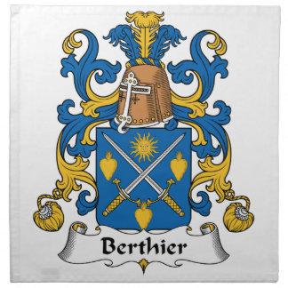 Berthier Family Crest Napkins