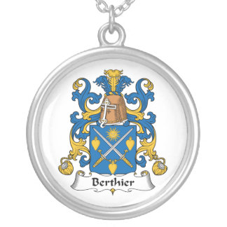 Berthier Family Crest Personalized Necklace