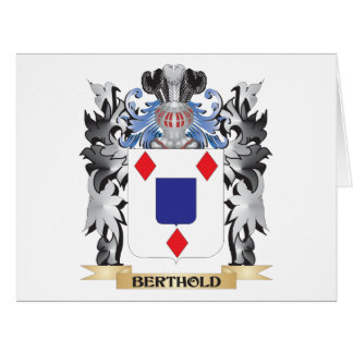 Berthold Coat of Arms - Family Crest Card