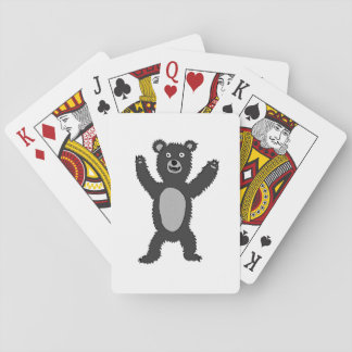 """""""Bertie"""" the bear (black and white) Playing Cards"""