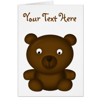 Bertie the Brown Bear Cartoon Card