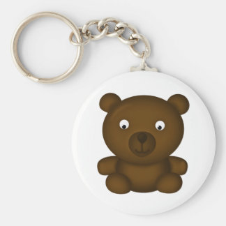 Bertie the Brown Bear Keychain