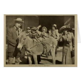 Bertie's Bandit 1911 silent movie scene Fischer Greeting Card