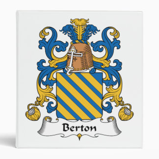 Berton Family Crest 3 Ring Binder