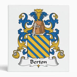 Berton Family Crest Vinyl Binder