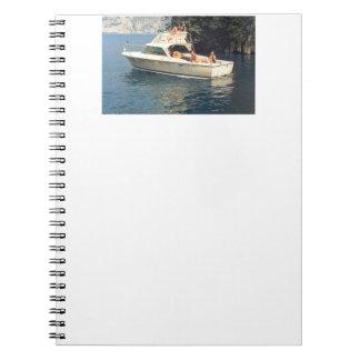 Bertram 25 Boats Notebook Writing Pad