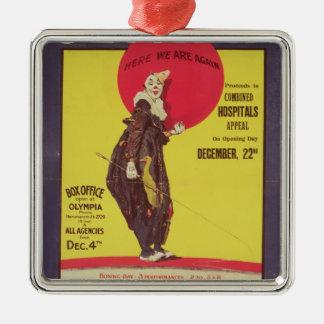 Bertram Mills circus poster Metal Ornament