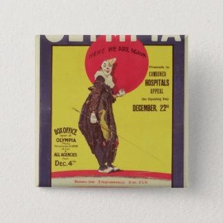 Bertram Mills circus poster Pinback Button