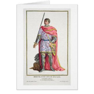 """Bertrand du Guesclin (1320-80) de """"DES E de Receui Felicitación"""