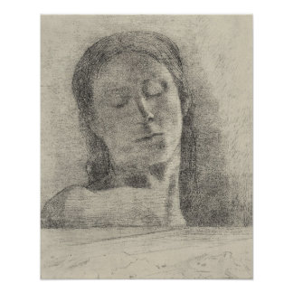 Bertrand-Jean Redon - ojos cerrados Posters