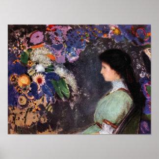 Bertrand-Jean Redon - Portrait of Violet Heyman Print