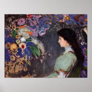 Bertrand-Jean Redon - Violette Heymann Portrait Print