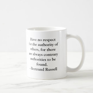 Bertrand Russell - Authority Coffee Mug