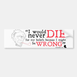 Bertrand Russell Bumper Sticker