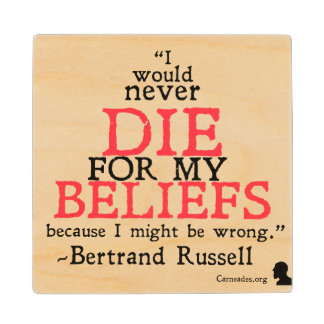 Bertrand Russell Drink Coaster