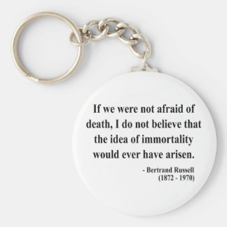 Bertrand Russell Quote 1a Basic Round Button Keychain