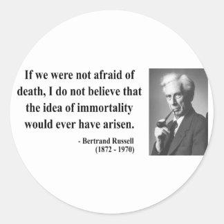 Bertrand Russell Quote 1b Classic Round Sticker