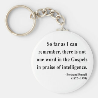 Bertrand Russell Quote 2a Basic Round Button Keychain
