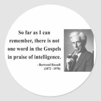 Bertrand Russell Quote 2b Classic Round Sticker