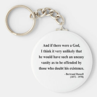 Bertrand Russell Quote 3a Basic Round Button Keychain