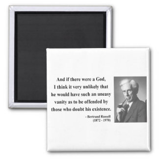 Bertrand Russell Quote 3b 2 Inch Square Magnet
