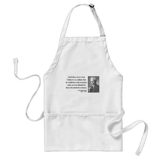 Bertrand Russell Quote 3b Adult Apron