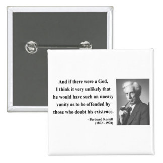 Bertrand Russell Quote 3b Pinback Button