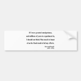 Bertrand Russell Quote 4a Bumper Sticker