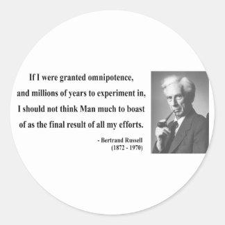 Bertrand Russell Quote 4b Classic Round Sticker
