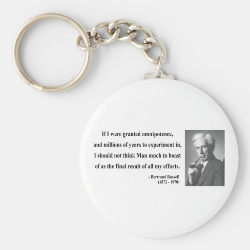 Bertrand Russell Quote 4b Keychain
