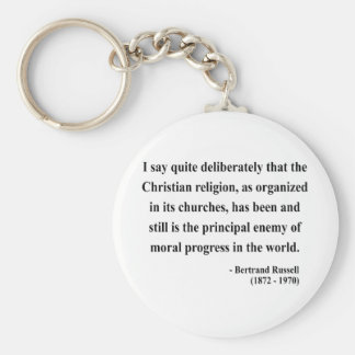 Bertrand Russell Quote 5a Basic Round Button Keychain