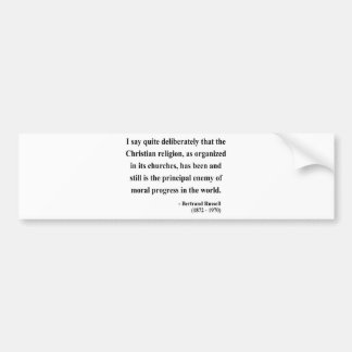 Bertrand Russell Quote 5a Bumper Stickers
