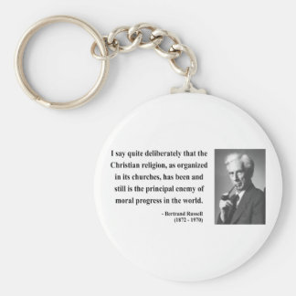 Bertrand Russell Quote 5b Basic Round Button Keychain