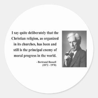 Bertrand Russell Quote 5b Classic Round Sticker