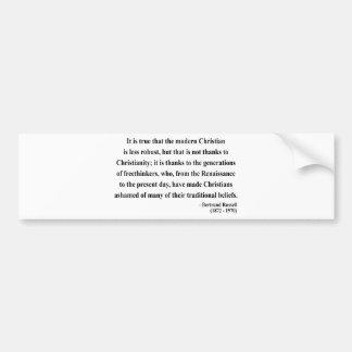 Bertrand Russell Quote 6a Bumper Sticker