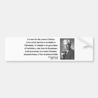 Bertrand Russell Quote 6b Bumper Sticker