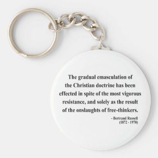 Bertrand Russell Quote 7a Basic Round Button Keychain
