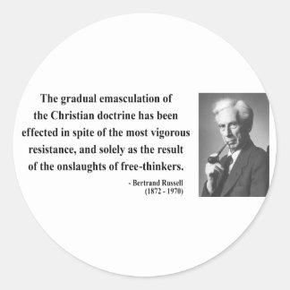 Bertrand Russell Quote 7b Classic Round Sticker