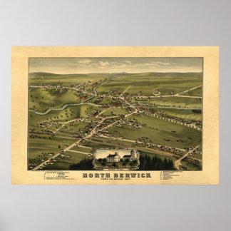 Berwick del norte YO opinión panorámica 1877 de Bi Póster