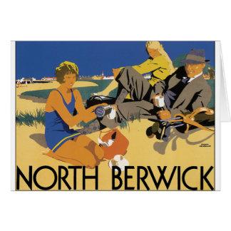 Berwick, poster del viaje del vintage de Escocia Tarjeta De Felicitación