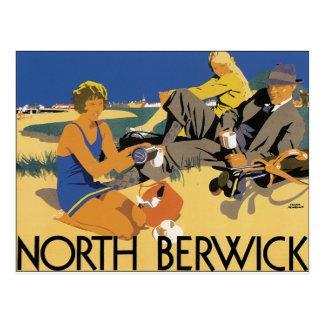 Berwick, poster del viaje del vintage de Escocia Postal