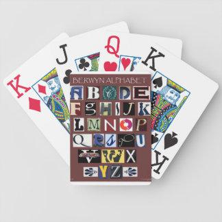 Berwyn Alphabet Playing Cards Bicycle Playing Cards
