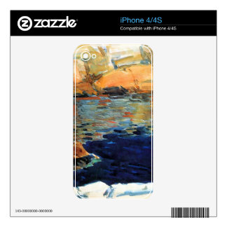 Beryl look at the pond by Childe Hassam Skin For iPhone 4